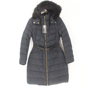 Zara Down Coat Women Winter Puffer Jacket NEW blue
